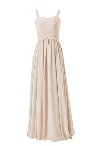 Women Dress Long Straps Evening 50 Dress Chiffon DaisyFormals Bridesmaid champagne w BM2386 RwAqUaxF