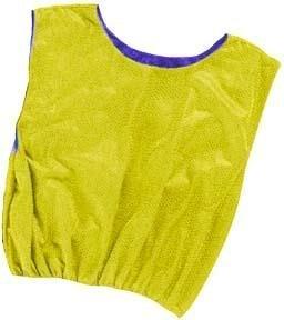 Champion Sports RSMBY Reversible Vest, Blue & Yellow, Blue/Yellow, Adult (Mesh Pinnies Adult Sports Champion)