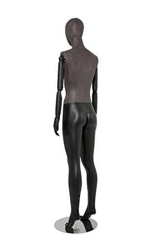 Newtech Display MAF-ARM2-1/BLLE Female Mixed Material Mannequin with Black Leatherette Head and Torso by Newtech Display (Image #3)
