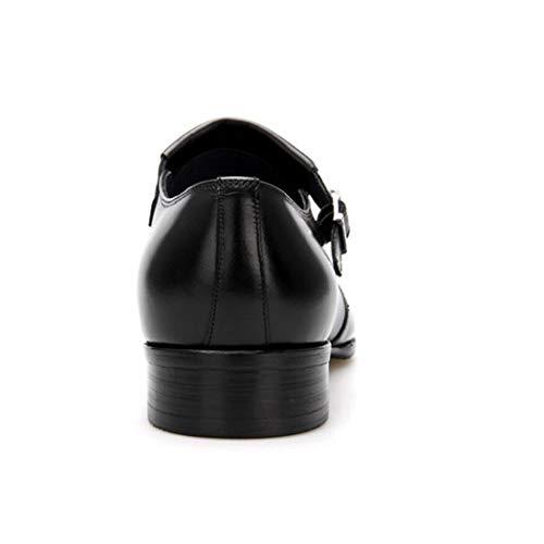 Negocios De Formales Blanco Británica En Botas Cuello Negro Primera Punta Zapatos Flysxp Para Pedicura Cuero Hombres Los Hebilla Capa wtA5qEn