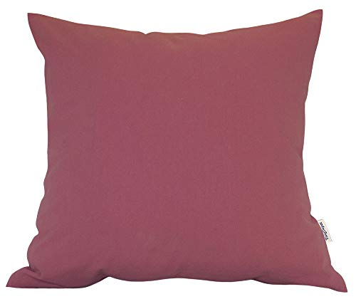 (TangDepot Decorative Handmade Solid Cotton Throw Pillow Covers, Super Soft Pillow Shams, Indoor/Outdoor Square Cushion Cover - (12