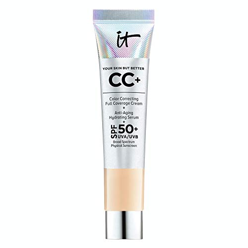 IT Cosmetics Your Skin But Better CC+ Cream Travel Size, Light (W) – Color Correcting Cream, Full-Coverage Foundation…