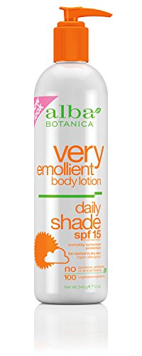 Alba Botanica Very Emollient Body Lotion Daily Shade Formula SPF 16, 12 Fluid Ounce