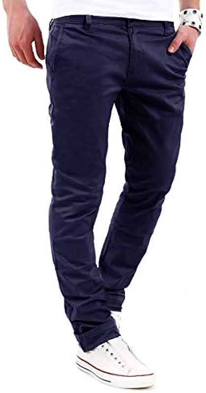 behype. Męskie spodnie jeansowe Basic Chino Stretch Regular Slim-Fit 80-0310: Odzież