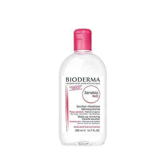 Bioderma Bioderma Sensibio H2o Micellar Water, Cleanser and Make Up Remover (500 Ml), Clear, 500 ml