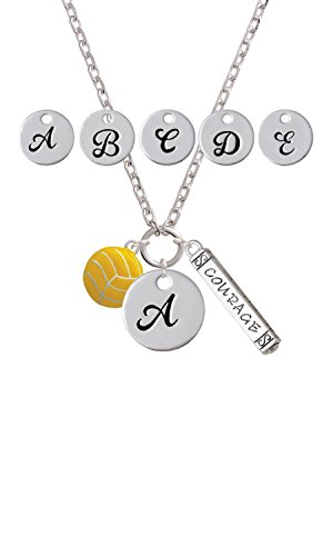 Magnanimous Water Polo Ball Custom Initial Courage Strength Zoe Necklace