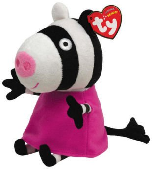 TY Autorizado Beanie Peppa Pig Friend Zoe la Cebra