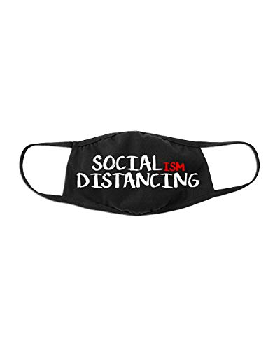 Funny Social-ISM Distancing Anti Socialism Cotton Cloth Face Cover Mask-M/L |