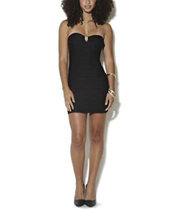 Wet Seal Women's Wavy Tube Bodycon Dress L Black