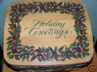 Longaberger Card Keeper Happy Holidays Christmas Lid