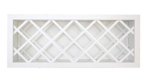 Plywell Ready to Assemble 12 inches Depth Shaker Wall Wine Rack in White (30x15)