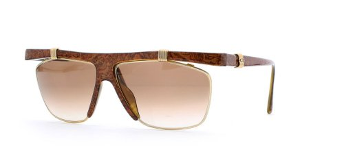 Christian Dior 2555 Sqr 47 Brown Certified Vintage Rectangular Sunglasses For Womens