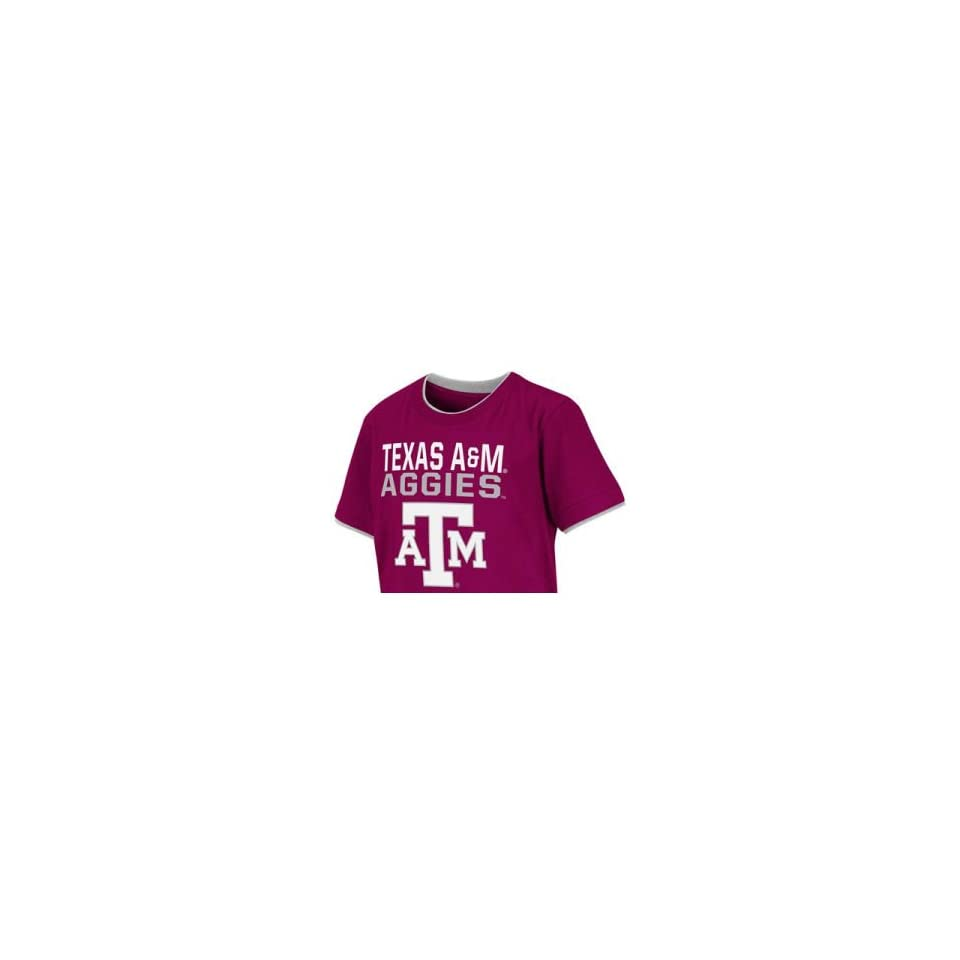 Texas A&M Aggies Colosseum NCAA Kids Ridge Double Layer T Shirt