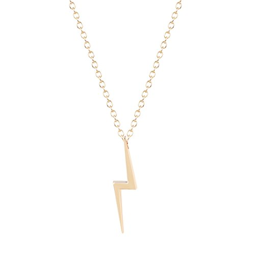 Handmade Contracted Lightning Bolt Pendant Necklace Gift Jewelry