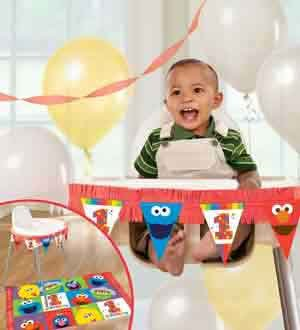 - Elmo Turns One High Chair Deco [Contains 2 Manufacturer Retail Unit(s) Per Amazon Combined Package Sales Unit] - SKU# 241595