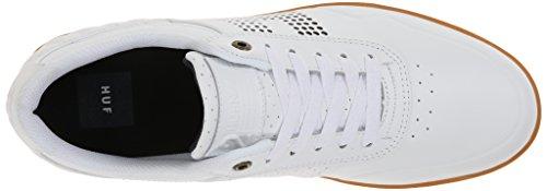 Huf Mens Nagel 2 Scarpa Da Skateboard Bianco / Gomma