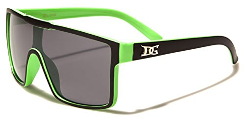 DG Eyewear Men's Flat Top Shield Sunglasses (Aviator Sunglasses Dg)
