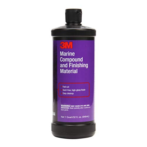 3M Marine Compound and Finishing Material (06044) - For Boats and RVs - 32 Ounces