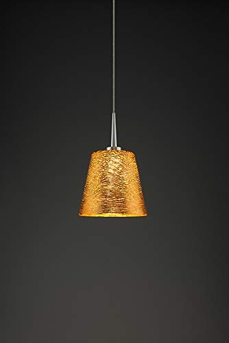 (Bruck Lighting 223841mc/MP Bling 1 LED Pendant with 4