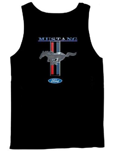 Ford Mustang Tank Top Ford Mustang Pony & Stripes-Nb-XL Navy Blue