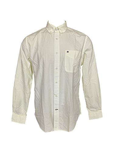Tommy Hilfiger Men's Long Sleeve Button Down Shirt in Classic Fit (Medium, - Down Shirt Button Tommy Hilfiger