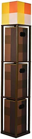 Robe Factory LLC Minecraft Brownstone Torch 5-Foot Standing Floor Lamp and Storage Unit