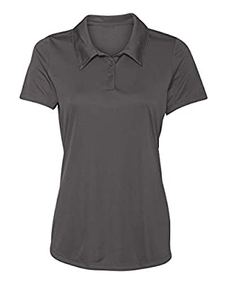 Animal Den Women's Dry-Fit Golf Polo Shirts 3-Button Golf Polo's in 20 Colors XS-3XL Shirt