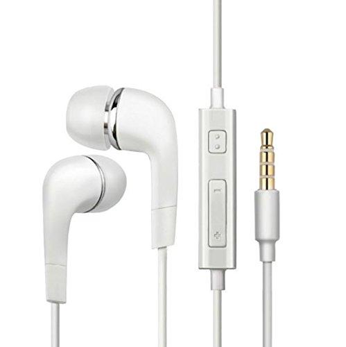 & # x2728; NET Lösungen & # x2728; in-Ear-Kopfhörer Bass Stereo mit Mikrofon für Apple iPhone, Android Smartphones, Tablets (weiß)