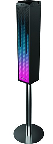 Amazoncom Sharper Image Sbt1014bk Sound Responsive Bluetooth Tower
