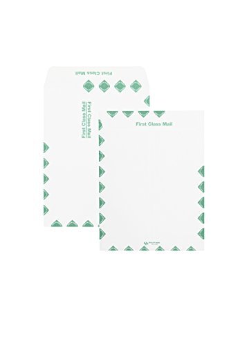 Quality Park Catalog Envelopes, Redi-Seal, First Class Border, 10 x 13-Inches, White, Box of 100 ()