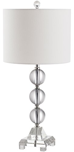 Safavieh Lighting Collection Fiona Crystal Table Lamp, Clear (Lamp Table Lucite)