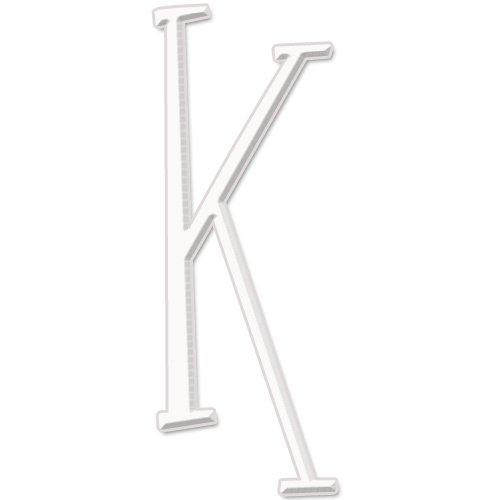 - aBaby Whimsical Letter, K, White