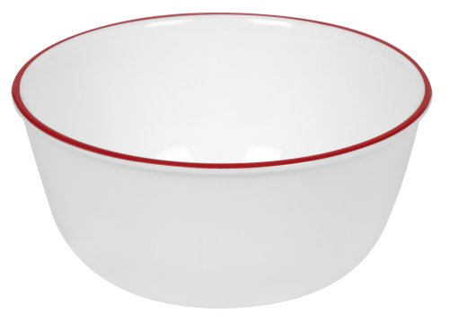 Corelle Livingware 28 Ounce Red Band Bowl, 1 Each