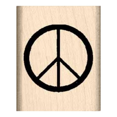 Stamps by Impression Peace Sign Rubber Stamp: Arts, Crafts & Sewing