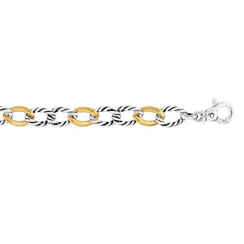 18 pouces en argent Sterling 7,5 po Bracelet lien JewelryWeb texte