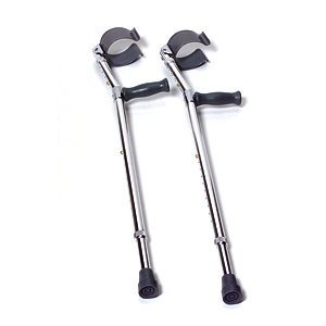 INVACARE CORPORATION Forearm Crutches - 5'0 - 6'2 - Adult - Pack: 2 by Invacare