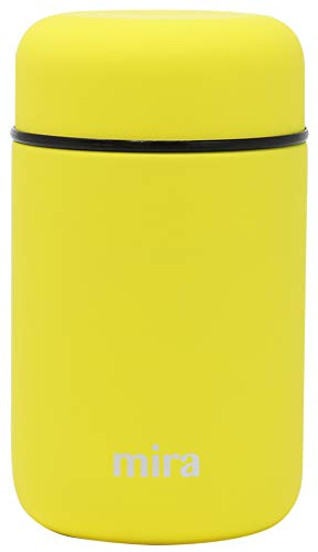 MIRA Lunch, Food Jar, Vacuum Insulated Stainless Steel Lunch Thermos, 13.5 Oz (Lemon Yellow)