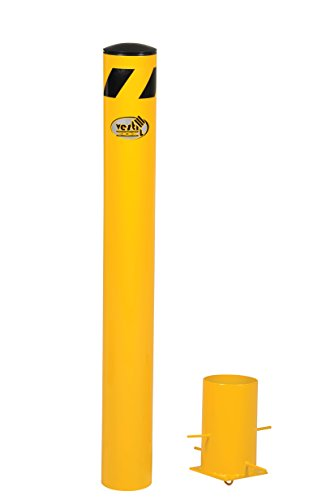 Vestil BOL-R-42-5.5 Removable Steel Pipe Safety Bollard, 42