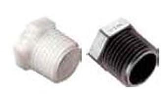 Parker Hannifin 318P-4PP-pk20 Par-Barb Hex Plug Fitting Black 1//4 Male NPT Parker Hannifin Corporation Pack of 20 1//4 Male NPT Polypropylene