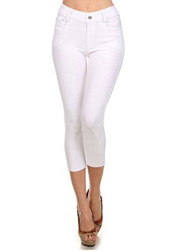 White Cotton Capris - 6