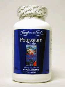 Allergy Research Group POTASSIUM CITRATE, CAPS 120