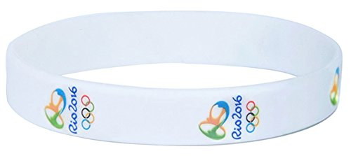 RoseSummer 2pcs Brazil Rio de Janeiro Olympic Flag Silicone Strap Bracelet
