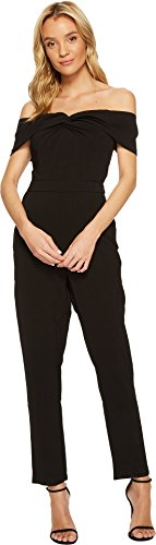 Adelyn Rae Women's Karlie Jumpsuit Black Large by Adelyn Rae
