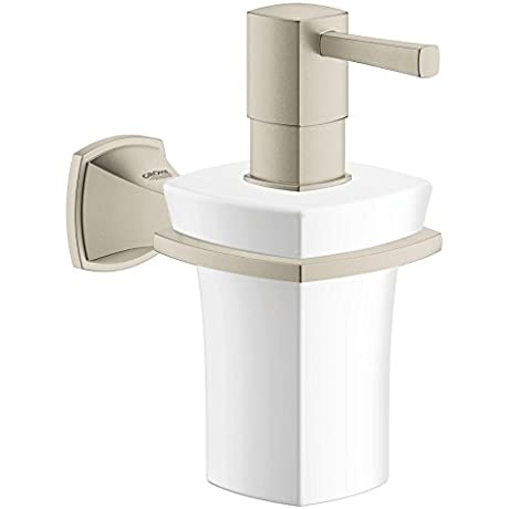Grandera Ceramic Soap Dispenser With Holder