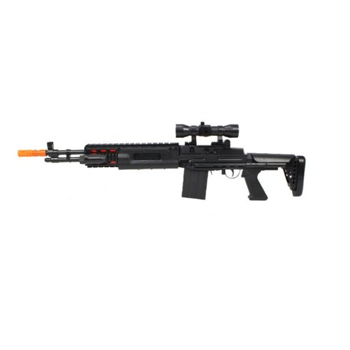 Battey Operated TD-2015 M14 Sniper Electric Toy Gun w/ Collapsible Stock, Toy Gun Toy Guns for Kids, gun (M16 Collapsible)