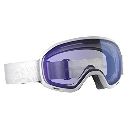 Scott Unlimited II OTG Illuminator Goggles White-Illuminator Blue Chrome, One Size