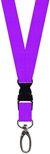 morbido e setoso rosso SUPERETOOL blu 1 pezzo Cordino da collo con fibbia di sicurezza in metallo viola assorbe il sudore colore: nero giallo blu 155 mm