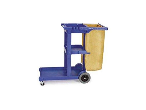 Powr-Flite JP12 Janitor's Cart with Heavy-Duty Bag, 23 gal Capacity