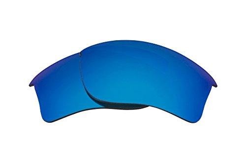 Best SEEK Replacement Lenses Oakley FLAK JACKET XLJ - Polarized Blue Mirror