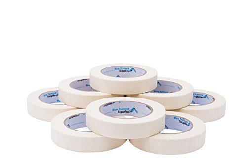 - 9 Pack 0.94'' Masking Tape, Easy Peel, Tear, and Stick Design,White, 60 Yards Length, 540 Total Yards
